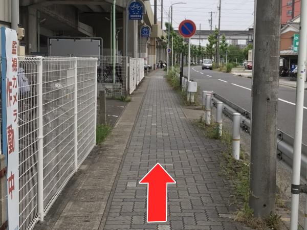 上小田井駅道順2-2